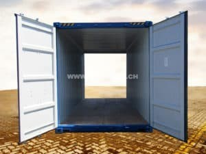 20' High Cube Double Door Container, RAL5010
