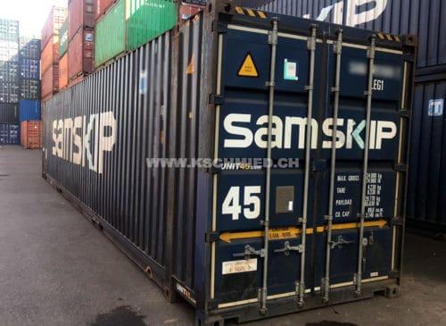 45' High Cube Palett Wide Seecontainer, gebraucht