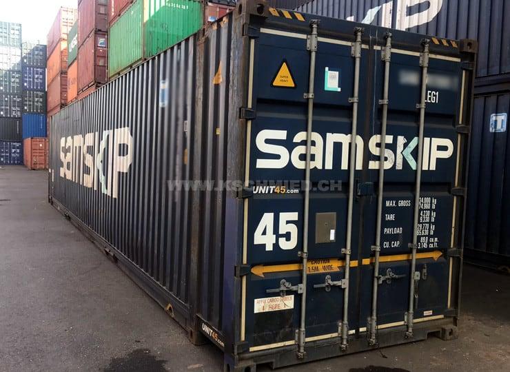 45′ High Cube Palett Wide Seecontainer, gebraucht