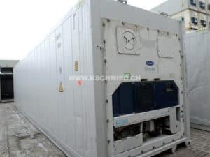 40' High Cube Kühlcontainer, Rückseite