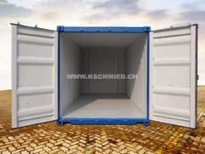 20 Fuss Box Seecontainer, neu, STAHLFUSSBODEN
