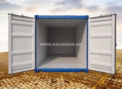 20 Foot Box Shipping Container, new, STEEL FLOOR