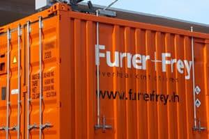 Logoplatzierung auf Container
