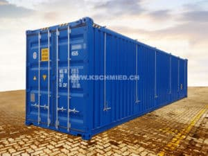 40 Fuss High Cube HARD TOP Seecontainer, STAHLFUSSBODEN, neu/neuwertig