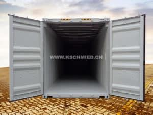 40 Fuss High Cube OPEN TOP Seecontainer, STAHLFUSSBODEN, neu/neuwertig