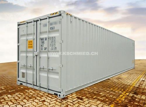 40 Fuss High Cube Box Seecontainer, STAHLFUSSBODEN, neu/neuwertig