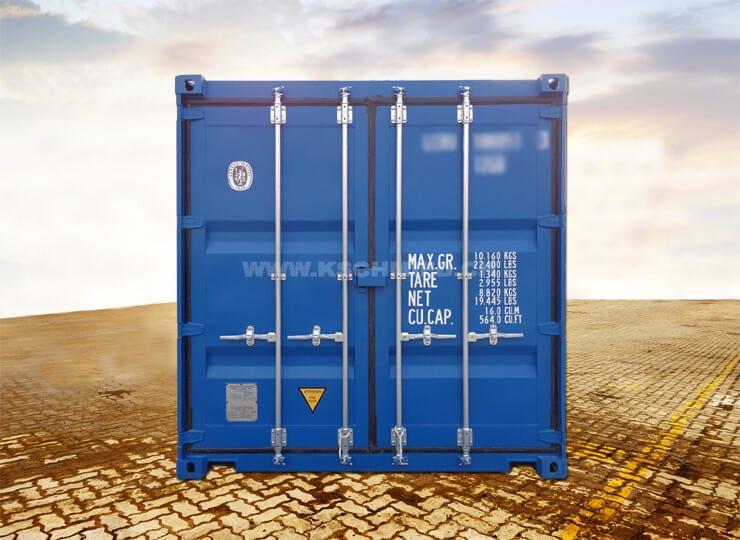 10′ Lagercontainer, Seecontainer-Qualität, STAHLFUSSBODEN, NEU/neuwertig