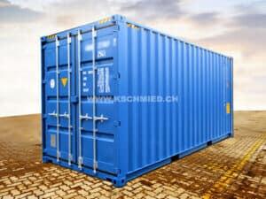 20' High Cube Seecontainer, STAHLFUSSBODEN, NEU/neuwertig