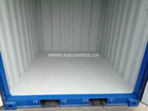 8' Lagercontainer, Seecontainer-Qualität, STAHLFUSSBODEN, NEU/neuwertig